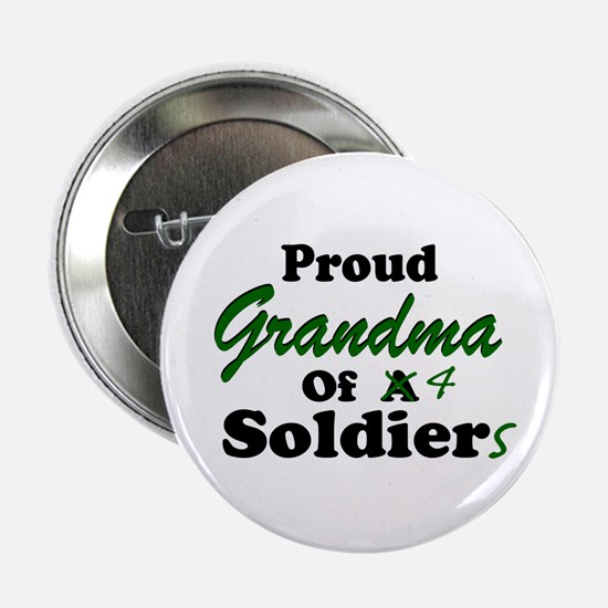 Proud Grandma 4 Soldiers Button
