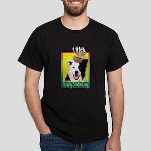 Birthday Cupcake - Border Collie Dark T-Shirt