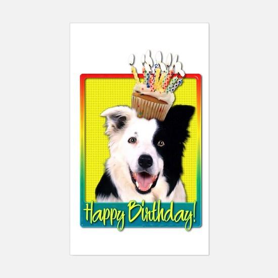 Birthday Cupcake - Border Collie Decal
