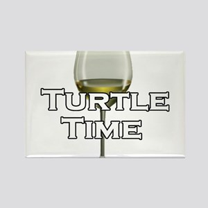 Turtle Time Rectangle Magnet