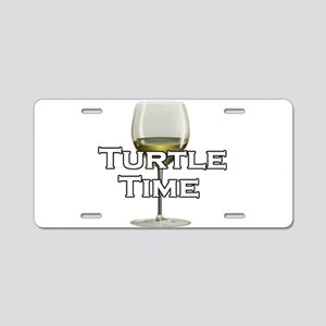 Turtle Time Aluminum License Plate
