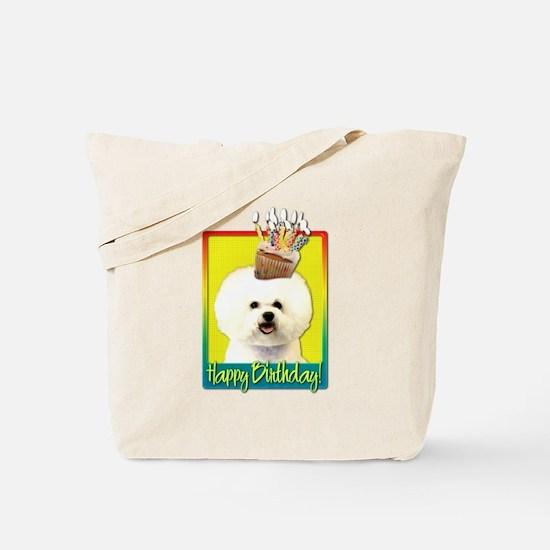 Birthday Cupcake - Bichon Tote Bag