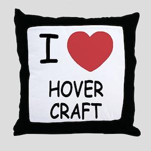 I heart hovercraft Throw Pillow