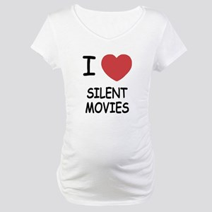 I heart silent movies Maternity T-Shirt