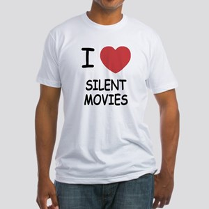 I heart silent movies Fitted T-Shirt