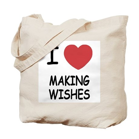 I heart making wishes Tote Bag