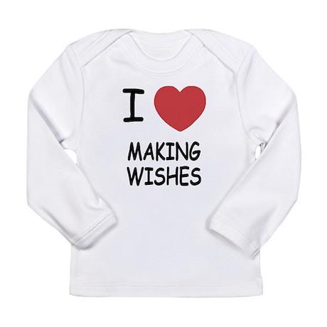 I heart making wishes Long Sleeve Infant T-Shirt