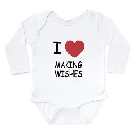 I heart making wishes Long Sleeve Infant Bodysuit