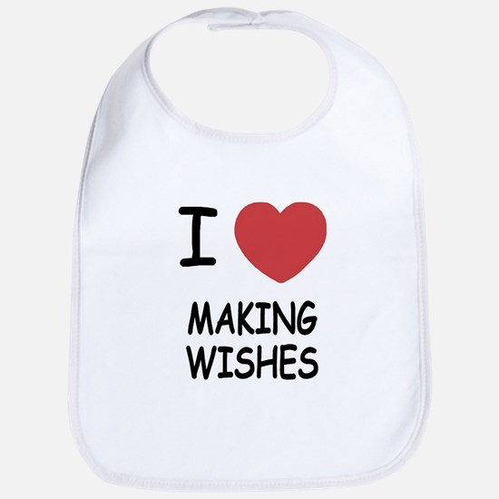 I heart making wishes Bib