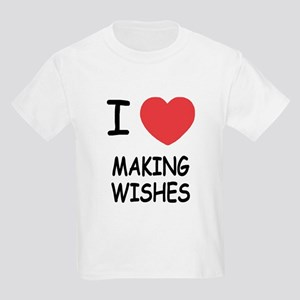 I heart making wishes Kids Light T-Shirt