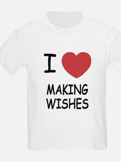 I heart making wishes T-Shirt