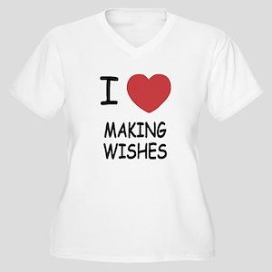 I heart making wishes Women's Plus Size V-Neck T-S