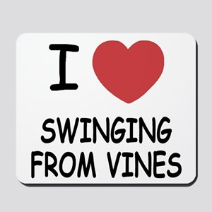 I heart swinging from vines Mousepad