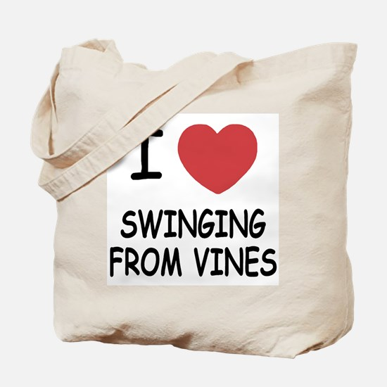 I heart swinging from vines Tote Bag