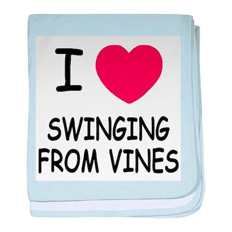 I heart swinging from vines baby blanket