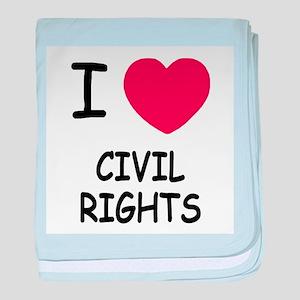 I heart civil rights baby blanket