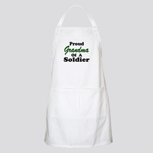 Proud Grandma of a Soldier BBQ Apron