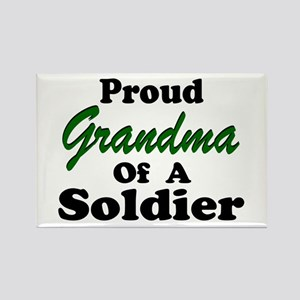Proud Grandma of a Soldier Rectangle Magnet