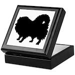 Pomeranian Silhouette Keepsake Box