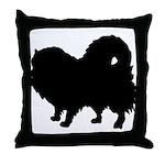 Pomeranian Silhouette Throw Pillow