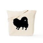 Pomeranian Silhouette Tote Bag