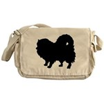 Pomeranian Silhouette Messenger Bag