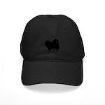 Pomeranian Silhouette Black Cap