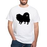 Pomeranian Silhouette White T-Shirt