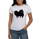 Pomeranian Silhouette Women's T-Shirt