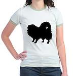 Pomeranian Silhouette Jr. Ringer T-Shirt