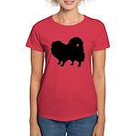 Pomeranian Silhouette Women's Dark T-Shirt