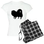 Pomeranian Silhouette Women's Light Pajamas