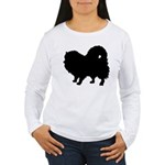 Pomeranian Silhouette Women's Long Sleeve T-Shirt