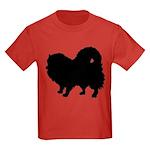 Pomeranian Silhouette Kids Dark T-Shirt