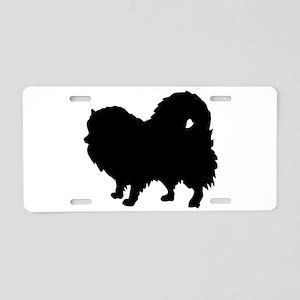 Pomeranian Silhouette Aluminum License Plate