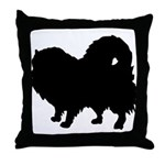 Pomeranian Silhouette Throw Pillow