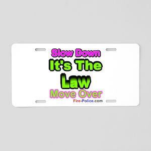 Slow Down Aluminum License Plate