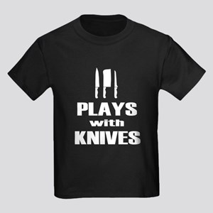 Plays with Knives Chef Cooking T-Shirt