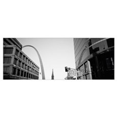 Low angle view of buildings, St. Louis, Missouri Framed Print