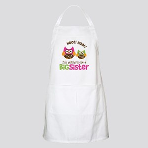 Retro Owl going to be Big Sis Apron
