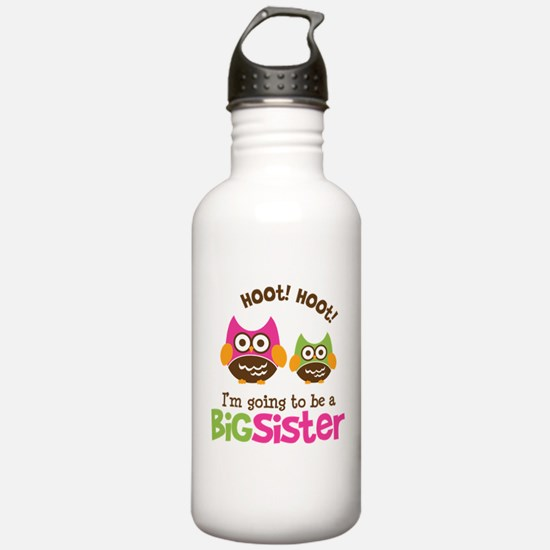 Retro Owl going to be Big Sis Water Bottle