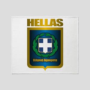 """Hellas"" (Greece) Throw Blanket"