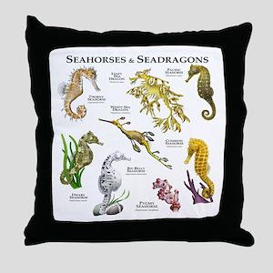 Seahorses & Seadragons Throw Pillow