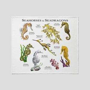 Seahorses & Seadragons Throw Blanket