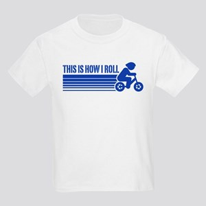 Kids Cycling This Is How I Roll Kids Light T-Shirt