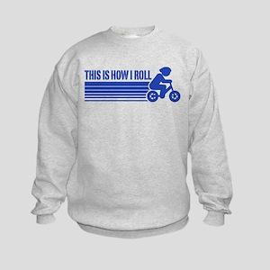 Kids Cycling This Is How I Roll Kids Sweatshirt