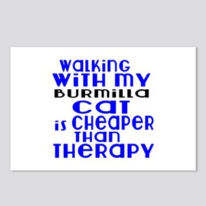 Walking With My Burmilla Postcards (Package of 8)
