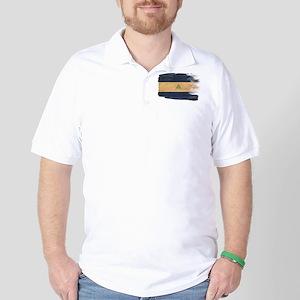 Nicaragua Flag Golf Shirt