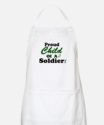 Proud Child of 2 Soldiers BBQ Apron