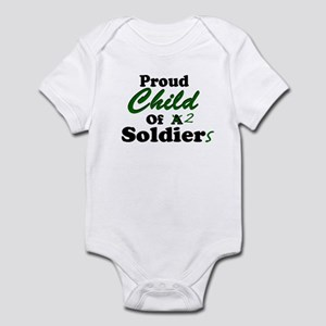 Proud Child of 2 Soldiers Infant Creeper